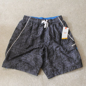 Speedo Swim Trunks Gray Palm Trees